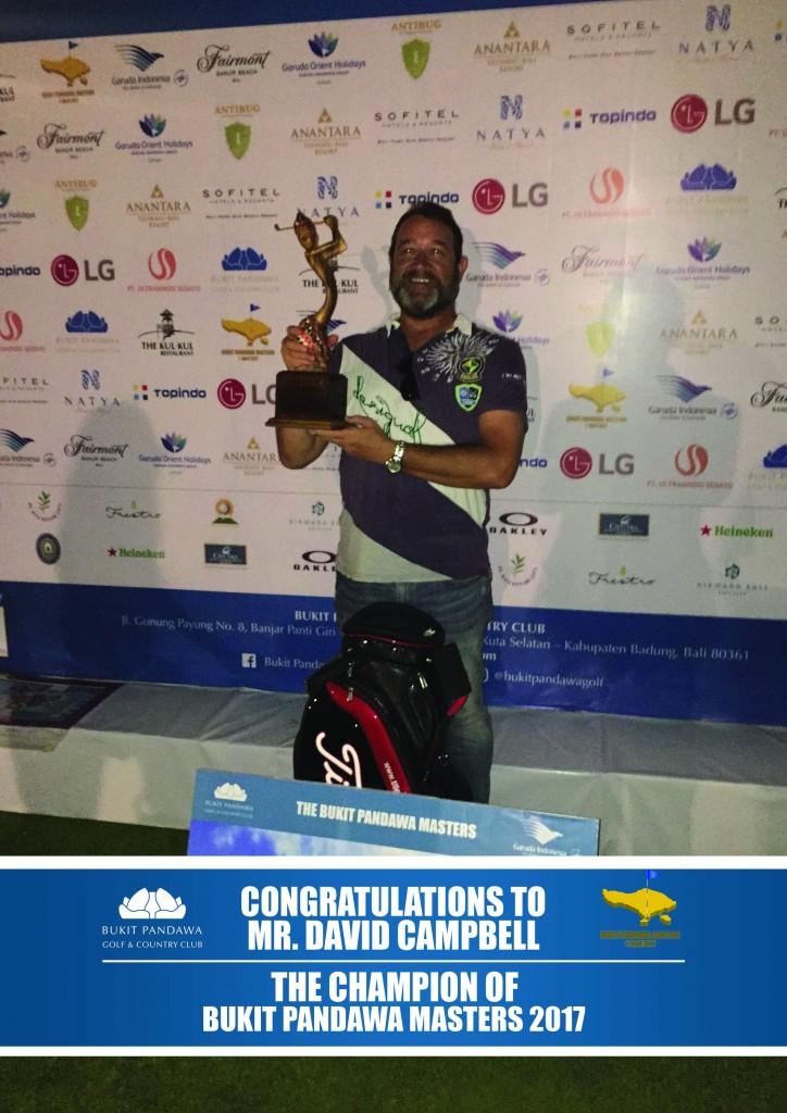 The Champion Bukit Pandawa Masters 2017